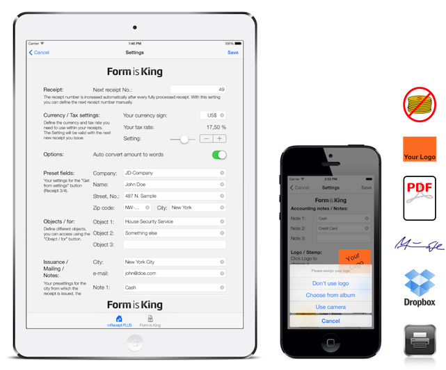 mreceipt the receipt app for iphone and ipad by form is king